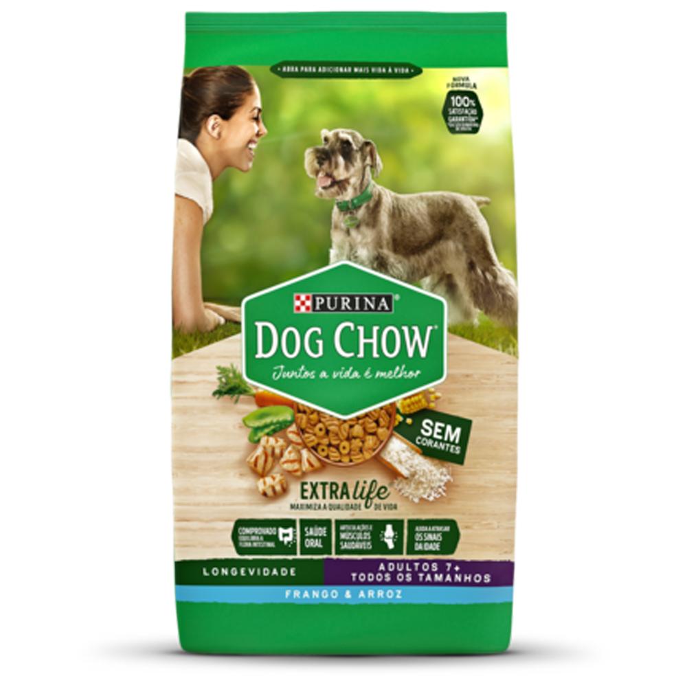 Ração Dog Chow Longevidade para Cães Adultos + 7 Sabor Frango e Arroz 15kg