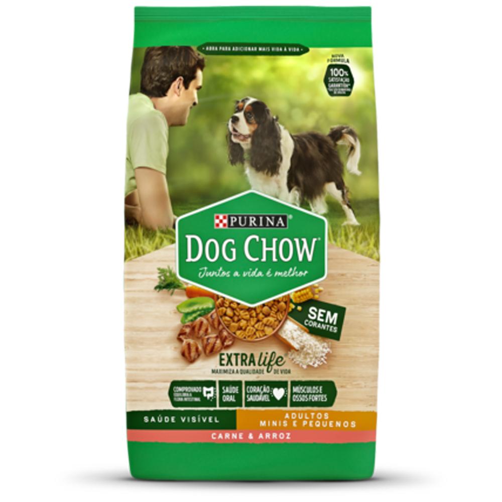 Ração Dog Chow para Cães Adultos Raças Pequenas Sabor Carne e Arroz 15kg