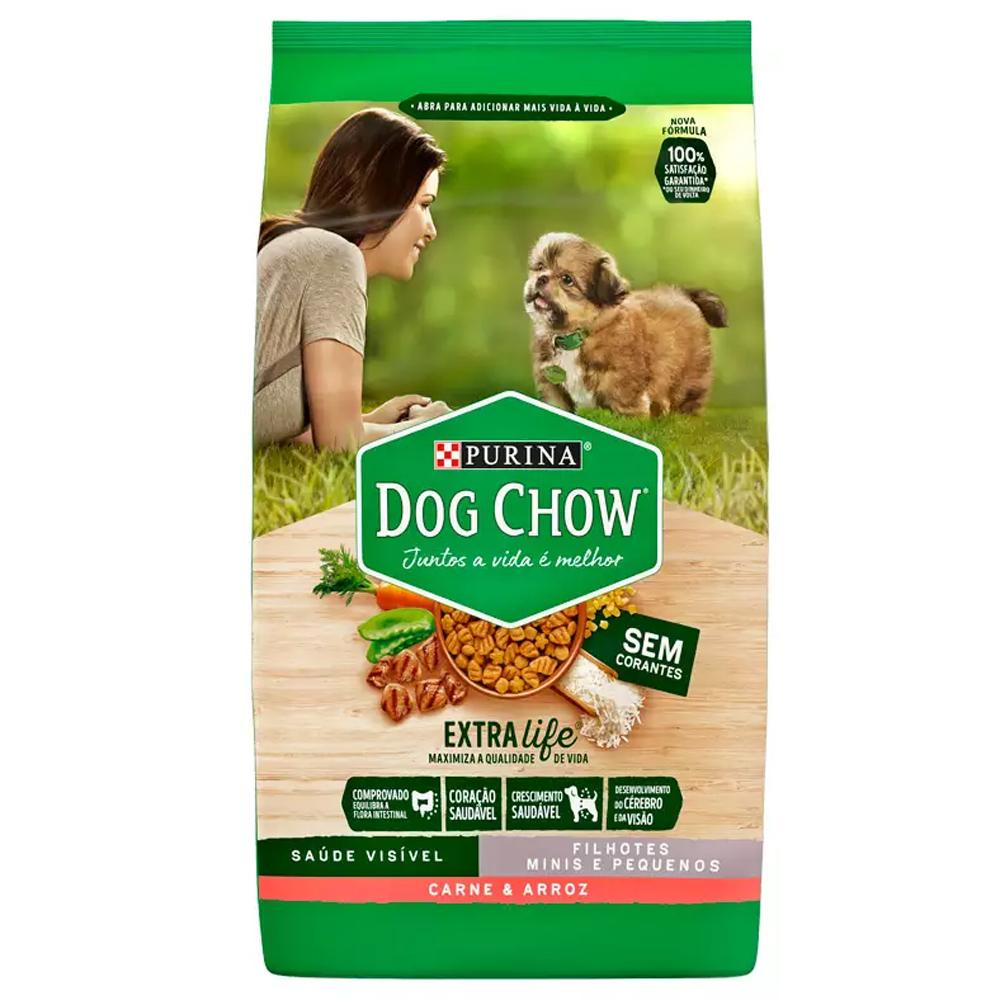 Ração Dog Chow para Cães Filhotes de Raças Pequenas Sabor Carne e Arroz 15kg