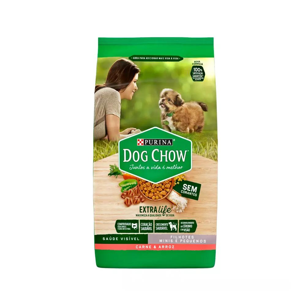 Ração Dog Chow para Cães Filhotes de Raças Pequenas Sabor Carne e Arroz 1kg