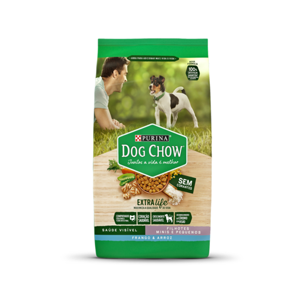 Ração Dog Chow para Cães Filhotes de Raças Pequenas Sabor Frango e Arroz 3kg