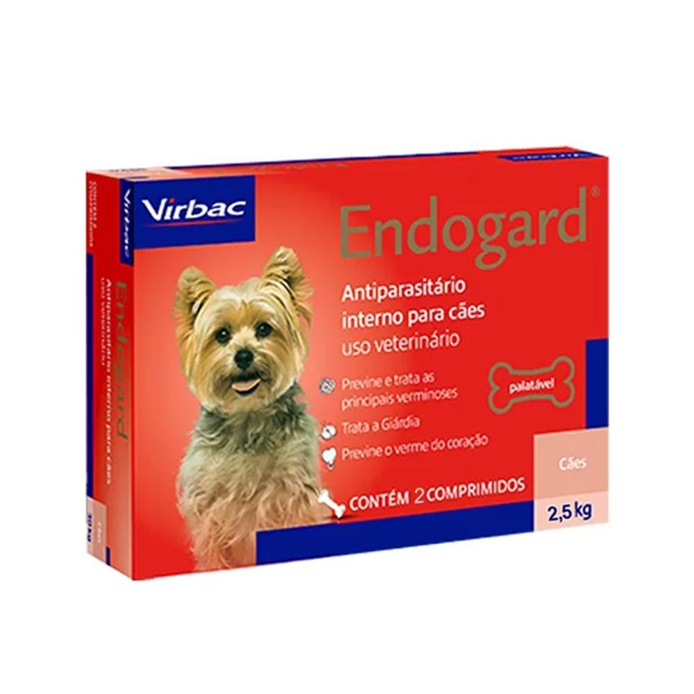 Endogard para Cães até 2,5kg 2 comprimidos