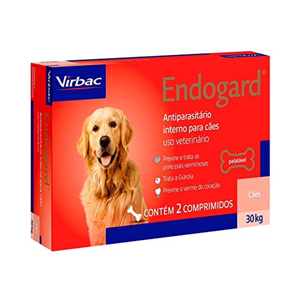 ENDOGARD 30KG - 2 COMPRIMIDOS