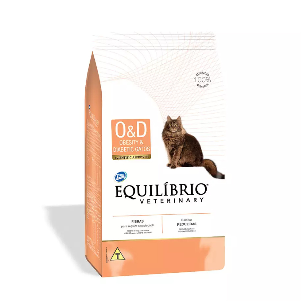 Ração Equilíbrio Veterinary Obesity e Diabetic para Gatos Adultos 2kg