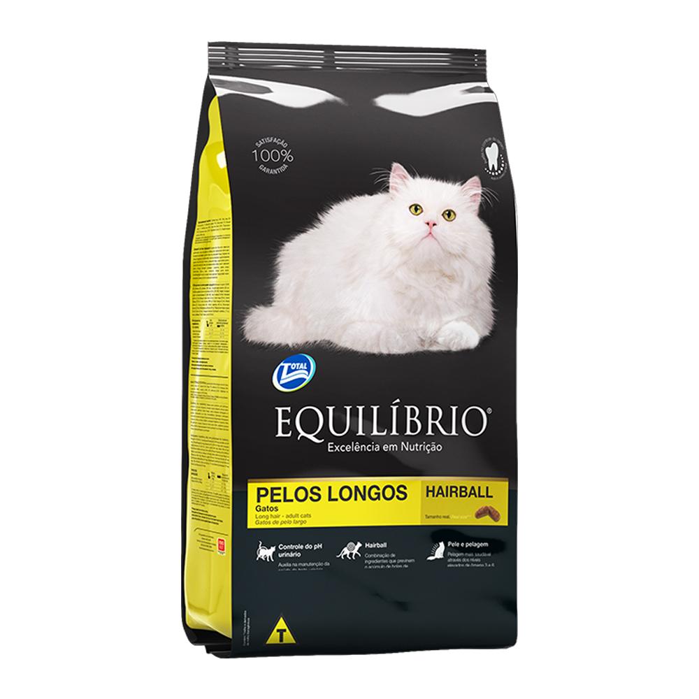 Ração Equilíbrio Pelos Longos para Gatos Adultos 1,5kg