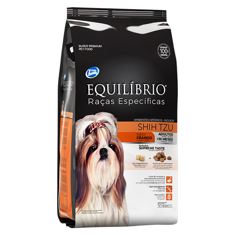 Ração Equilíbrio Raças Específicas Shih Tzu para Cães Adultos sabor Frango 2kg