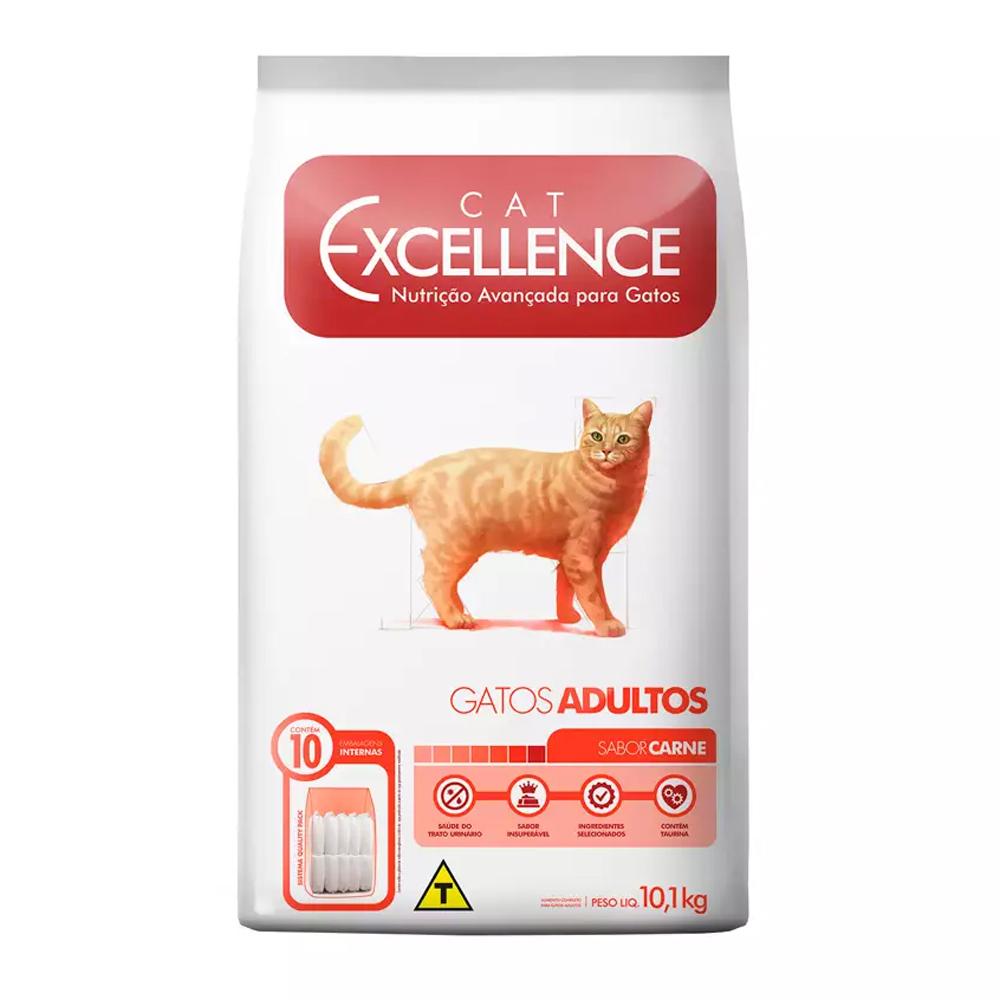 Ração Excellence para Gatos Adultos Sabor Carne 10,1kg
