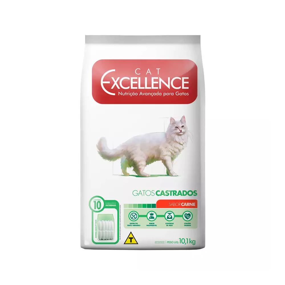 Ração Excellence para Gatos Castrados Sabor Carne 10,1kg