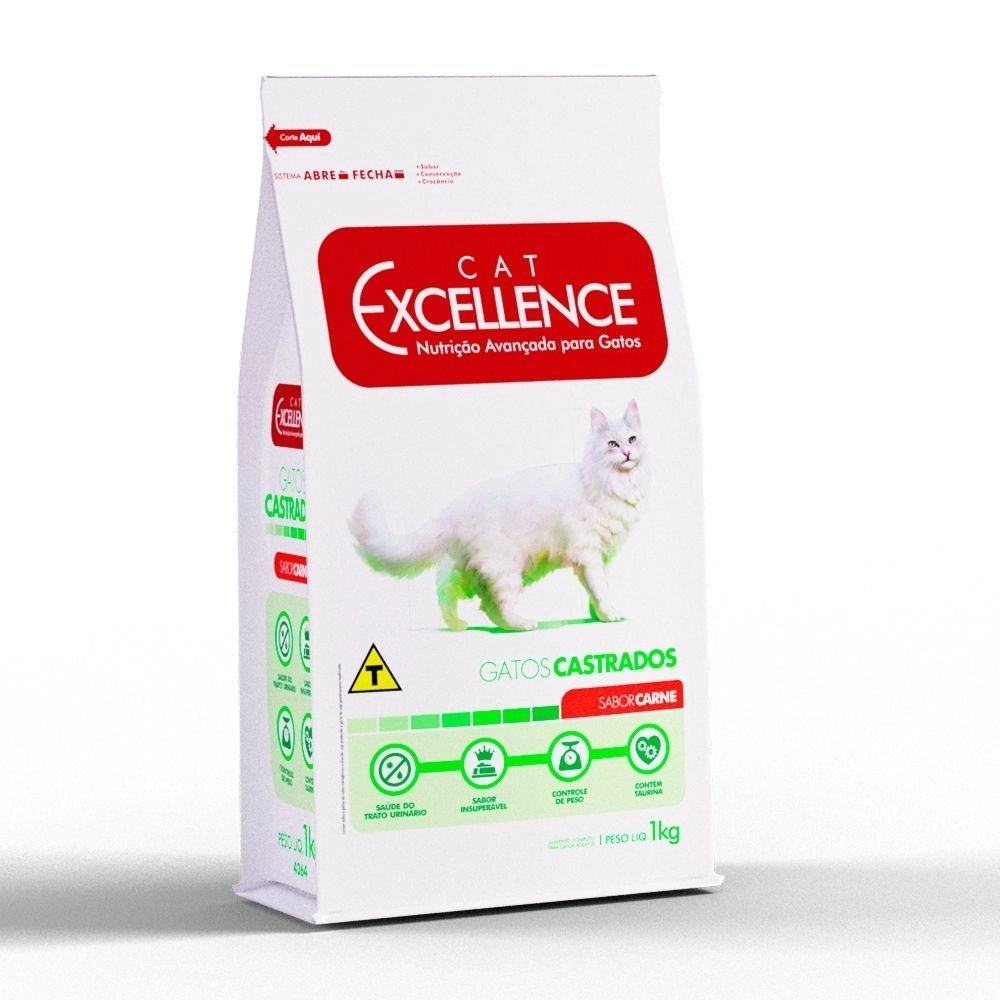 EXCELLENCE CAT CASTRADO CARNE 1KG