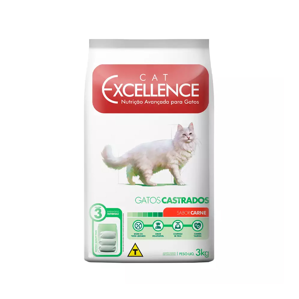EXCELLENCE CAT CASTRADO CARNE 3KG