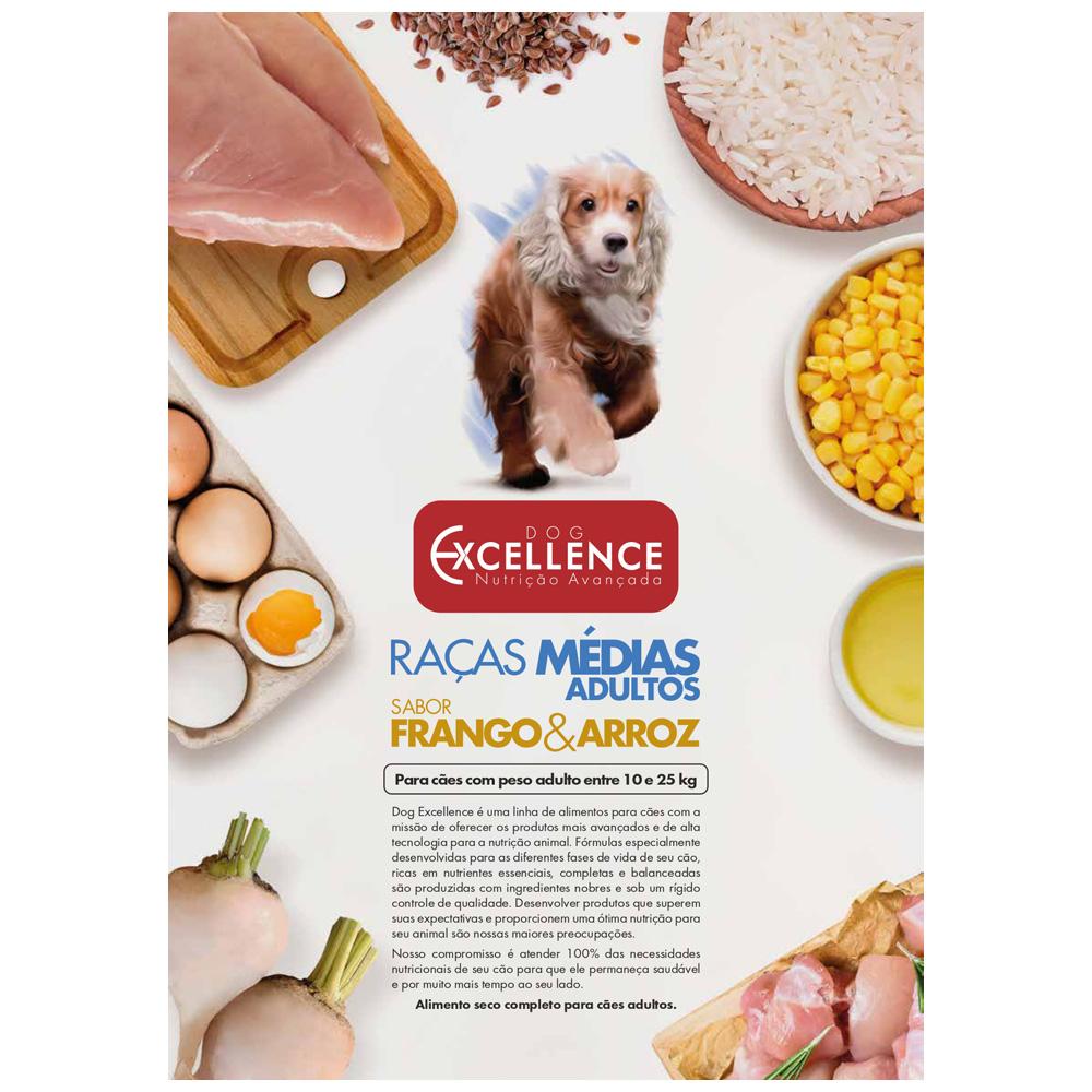 EXCELLENCE DOG RAÇAS MÉDIAS FRANGO 15KG