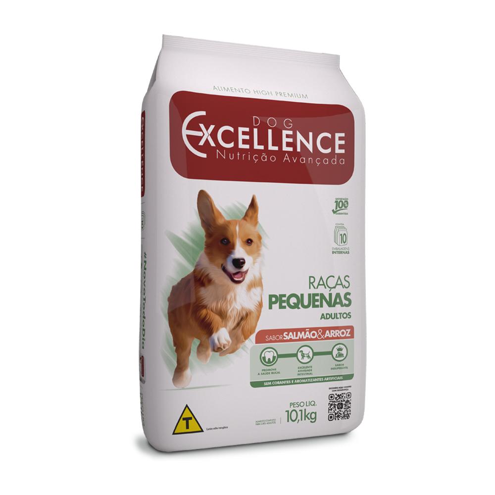 Ração Excellence para Cães Adultos de Raças Pequenas Sabor Salmão e Arroz 10,1kg