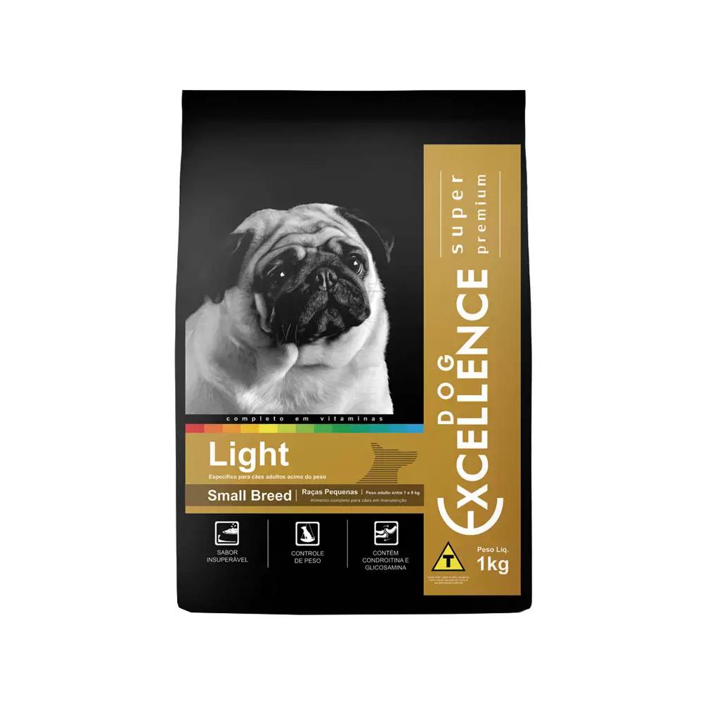 Ração Excellence Light para Cães Adultos de Raças Pequenas Sabor Frango 1kg