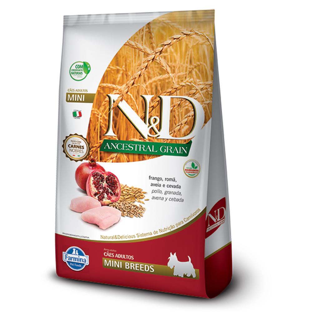 FARMINA ND ANCESTRAL GRAIN CANINE FRANGO ADULTO MINI 0,8KG