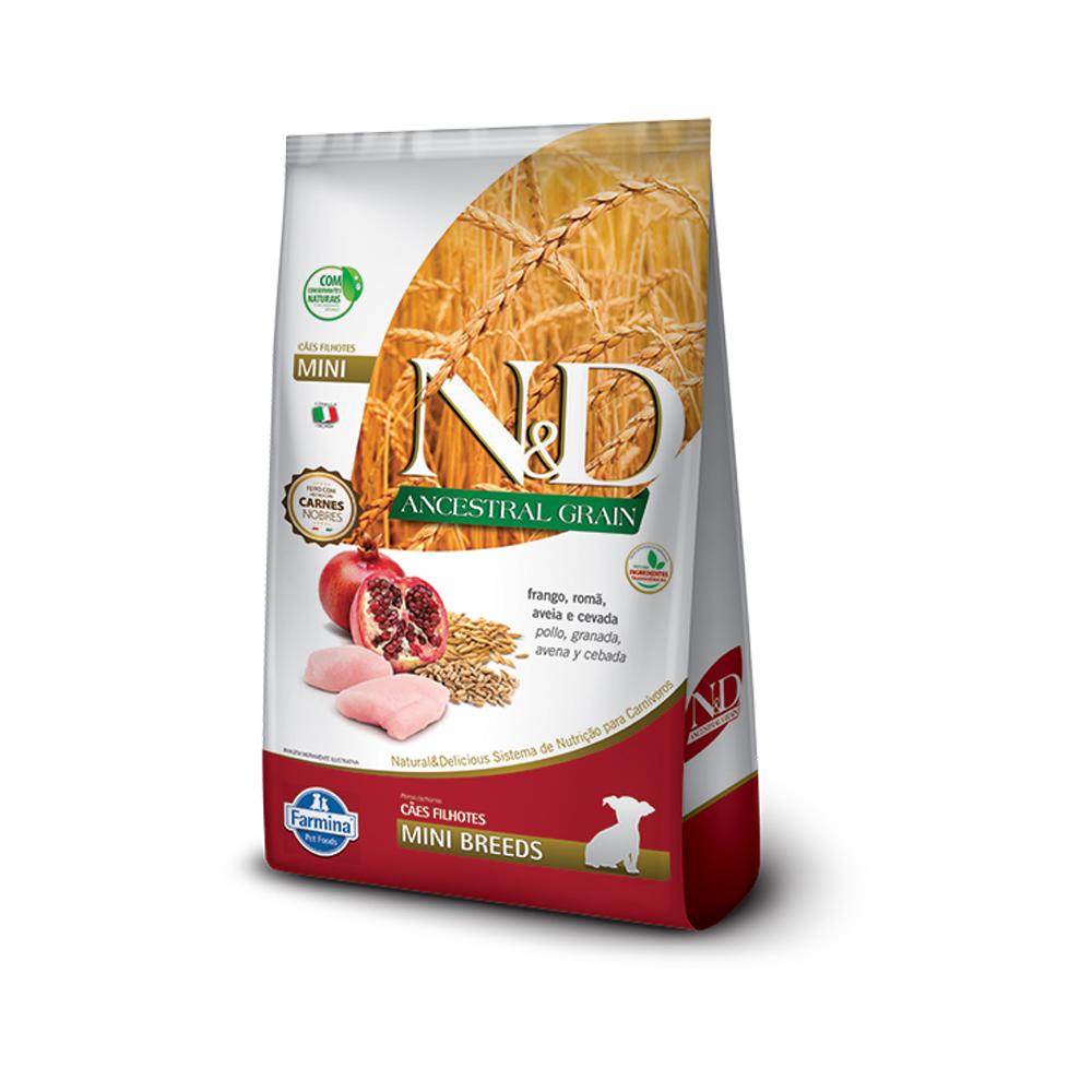 Ração N&D Ancestral Grain para Cães Filhotes de Raças Pequenas Sabor Frango e Romã 2,5kg