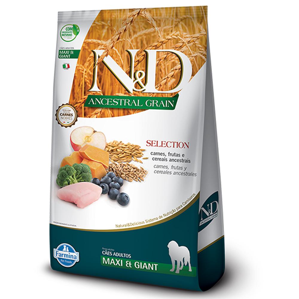 Ração N&D Ancestral Grain Selection para Cães Adultos de Raças Grandes Sabor Frango 15kg