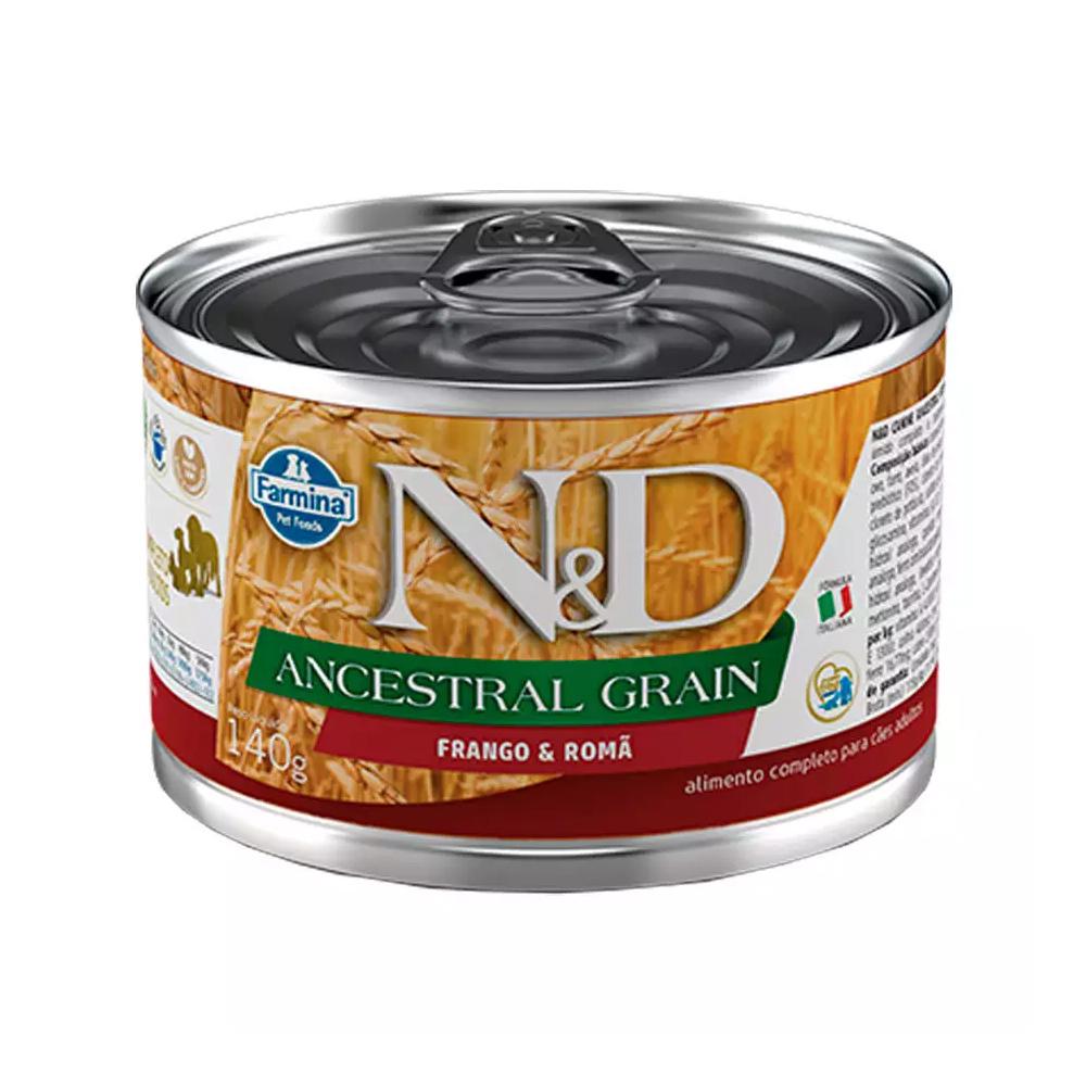 Ração Úmida N&D Ancestral Grain para Cães Adultos Sabor Frango e Romã 140g