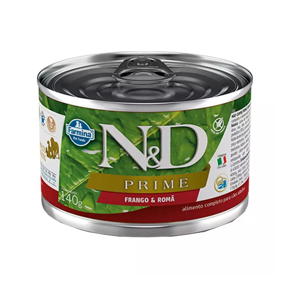 Ração Úmida N&D Prime para Cães Adultos Sabor Frango e Romã 140g