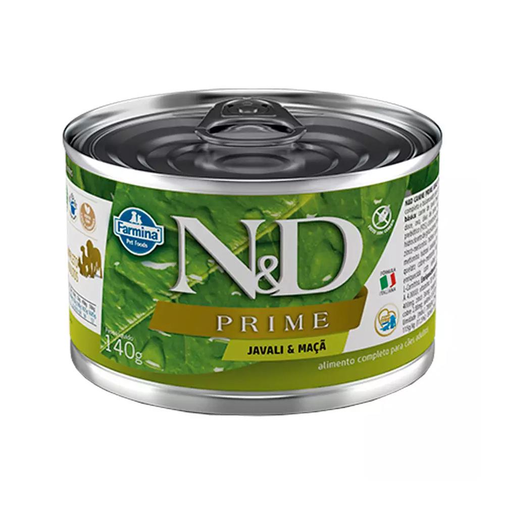 Ração Úmida N&D Prime para Cães Adultos Sabor Javali e Maçã 140g