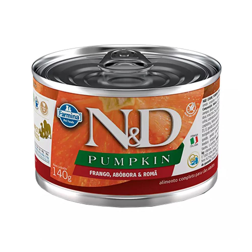 Ração Úmida N&D Pumpkin para Cães Adultos Sabor Frango, Abóbora e Romã 140g