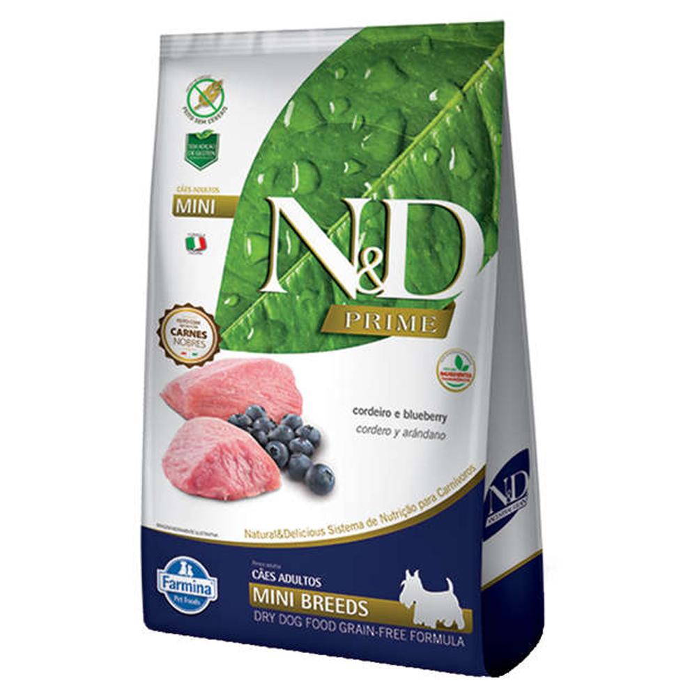 Ração N&D Prime para Cães Adultos Raças Pequenas Sabor Cordeiro e Blueberry 10,1kg