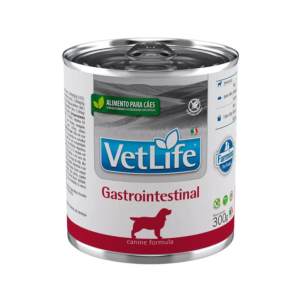 Ração Úmida Lata Farmina Vet Life Gastrointestinal para Cães 300g