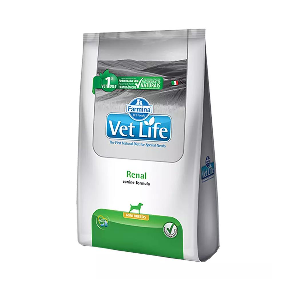 Ração Farmina Vet Life Renal para Cães Adultos de Raças Mini 2kg