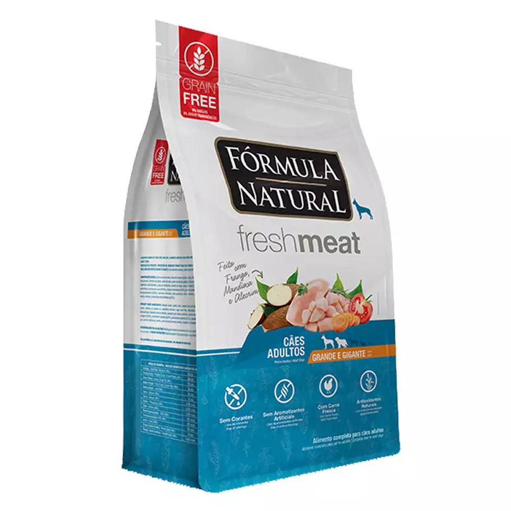 Ração Fórmula Natural FreshMeat para Cães Adultos de Grande Porte Sabor Frango 12kg