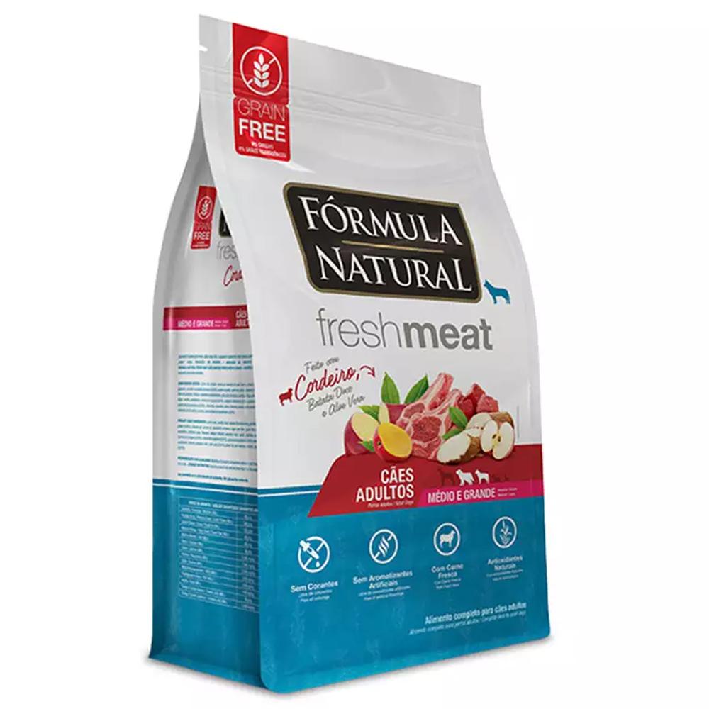 Ração Fórmula Natural FreshMeat para Cães de Médio e Grande Porte Sabor Cordeiro 12kg