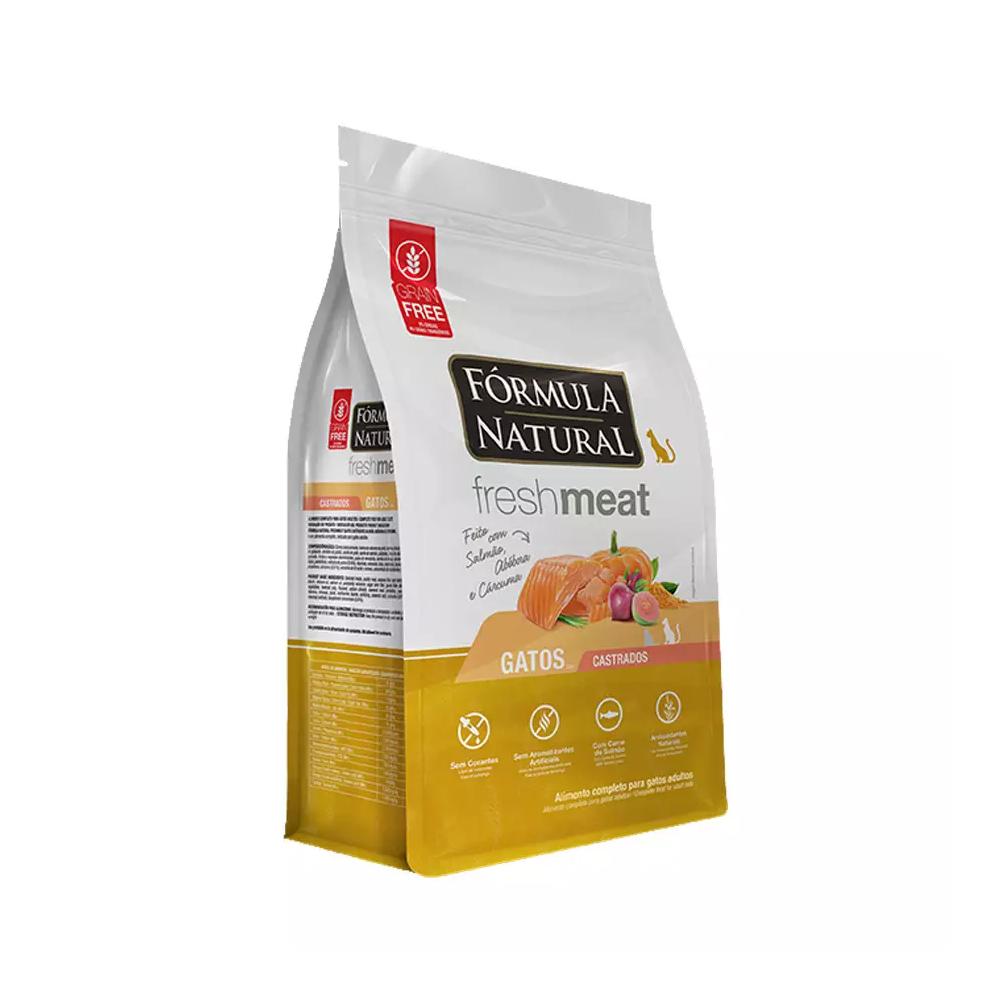 Ração Fórmula Natural Freshmeat para Gatos Adultos Castrados Sabor Salmão, Abóbora e Cúrcuma 1kg