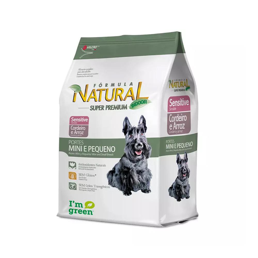 Ração Fórmula Natural Sensitive para Cães Adultos de Mini e Pequeno Porte Sabor Cordeiro e Arroz 7kg