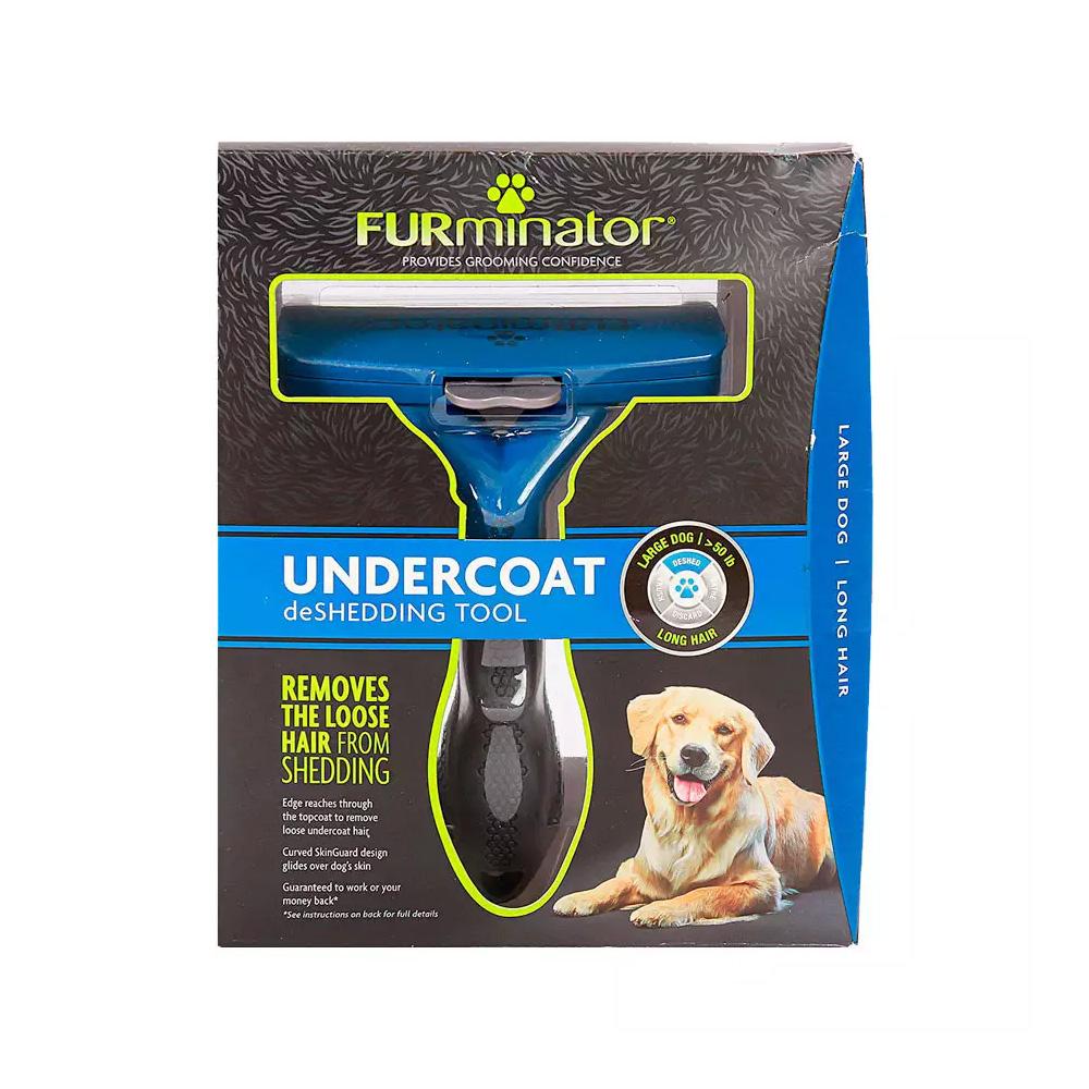 Rasqueadeira Furminator Grande para Cães de Pelos Longos