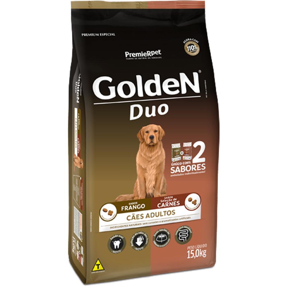 Ração Golden Duo para Cães Adultos Sabor Frango e Carne 15kg