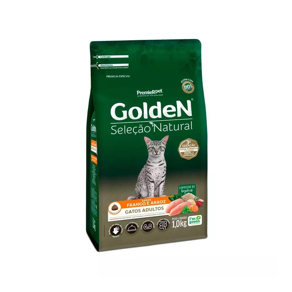 GOLDEN GATOS SELEÇÃO NATURAL 1KG