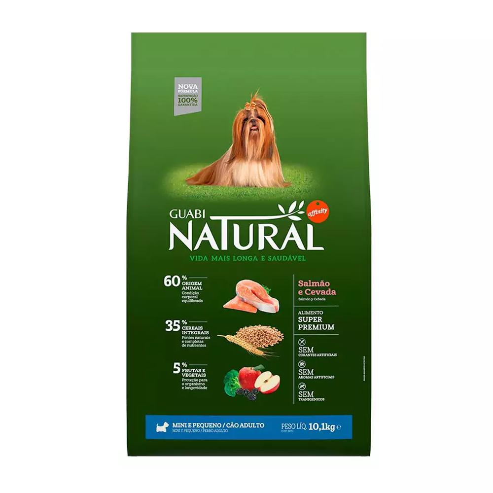 Ração Guabi Natural para Cães Adultos de Porte Mini e Pequeno Sabor Salmão e Cevada 10,1kg