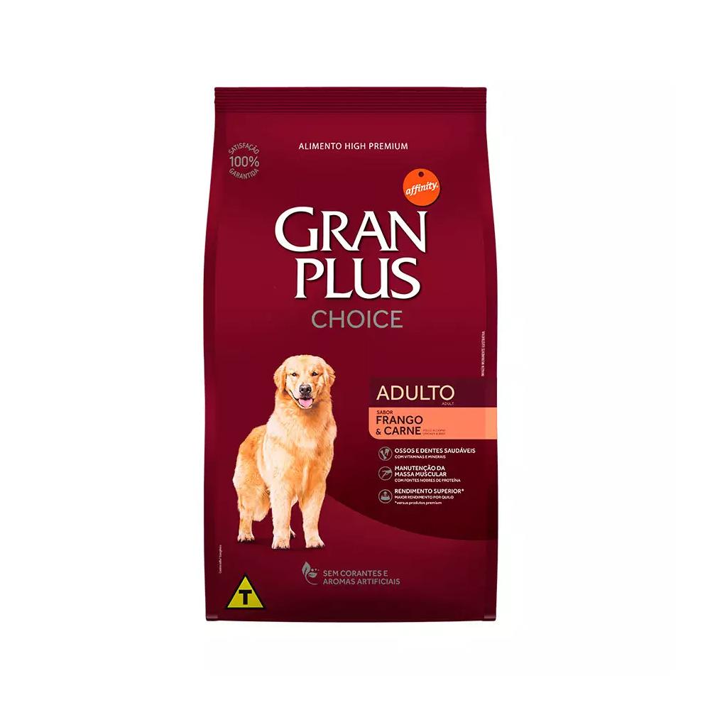Ração GranPlus Choice para Cães Adultos sabor Frango e Carne 20kg