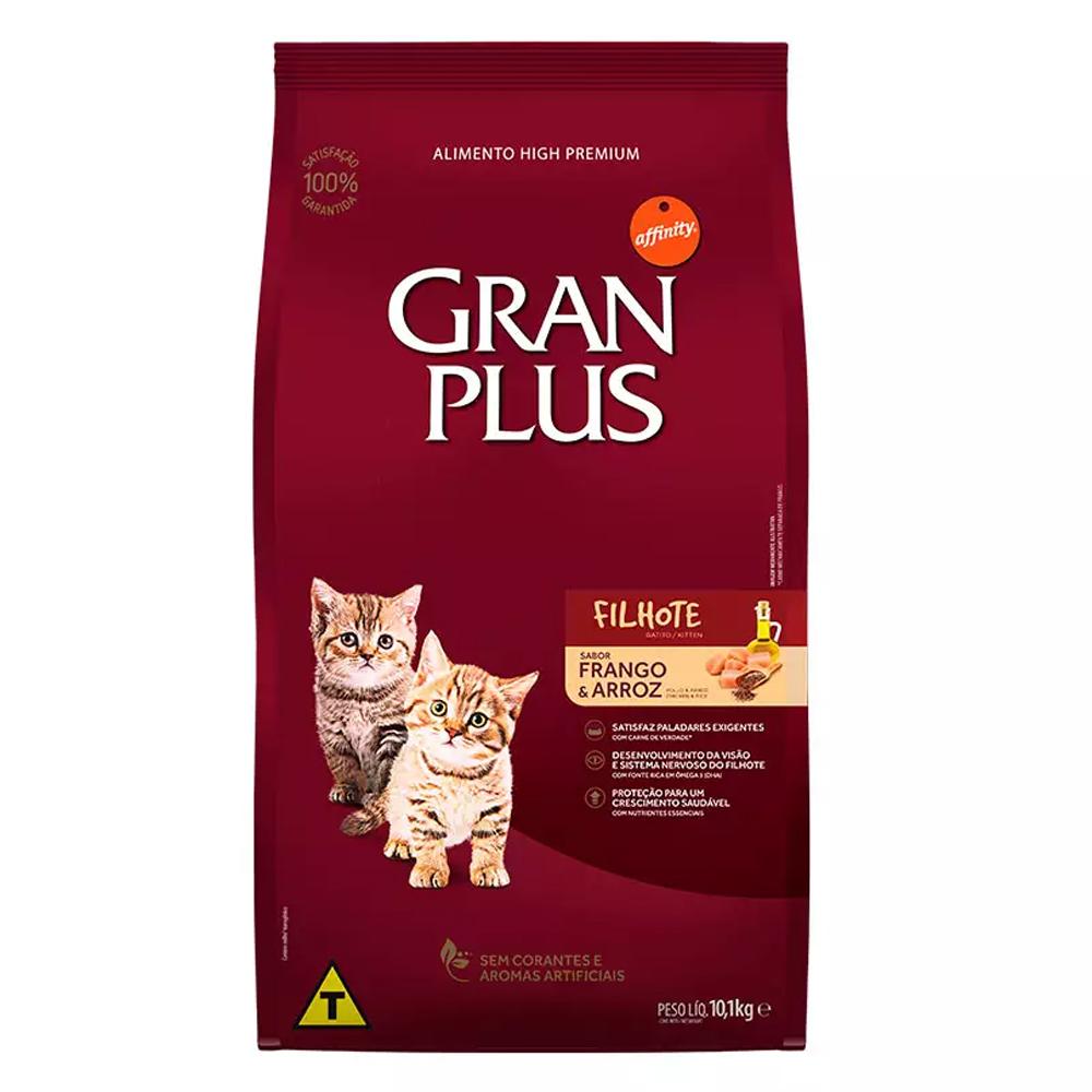 Ração GranPlus para Gatos Filhotes Sabor Frango e Arroz 10,1kg