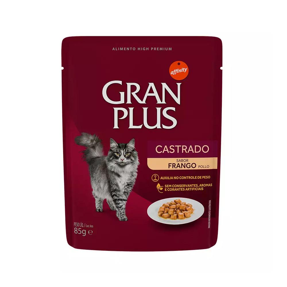 GRAN PLUS SACHÊ GATO CASTRADO FRANGO 85G
