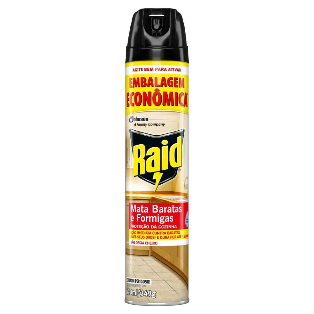 AEROSSOL RAID MATA BARATAS 420ML