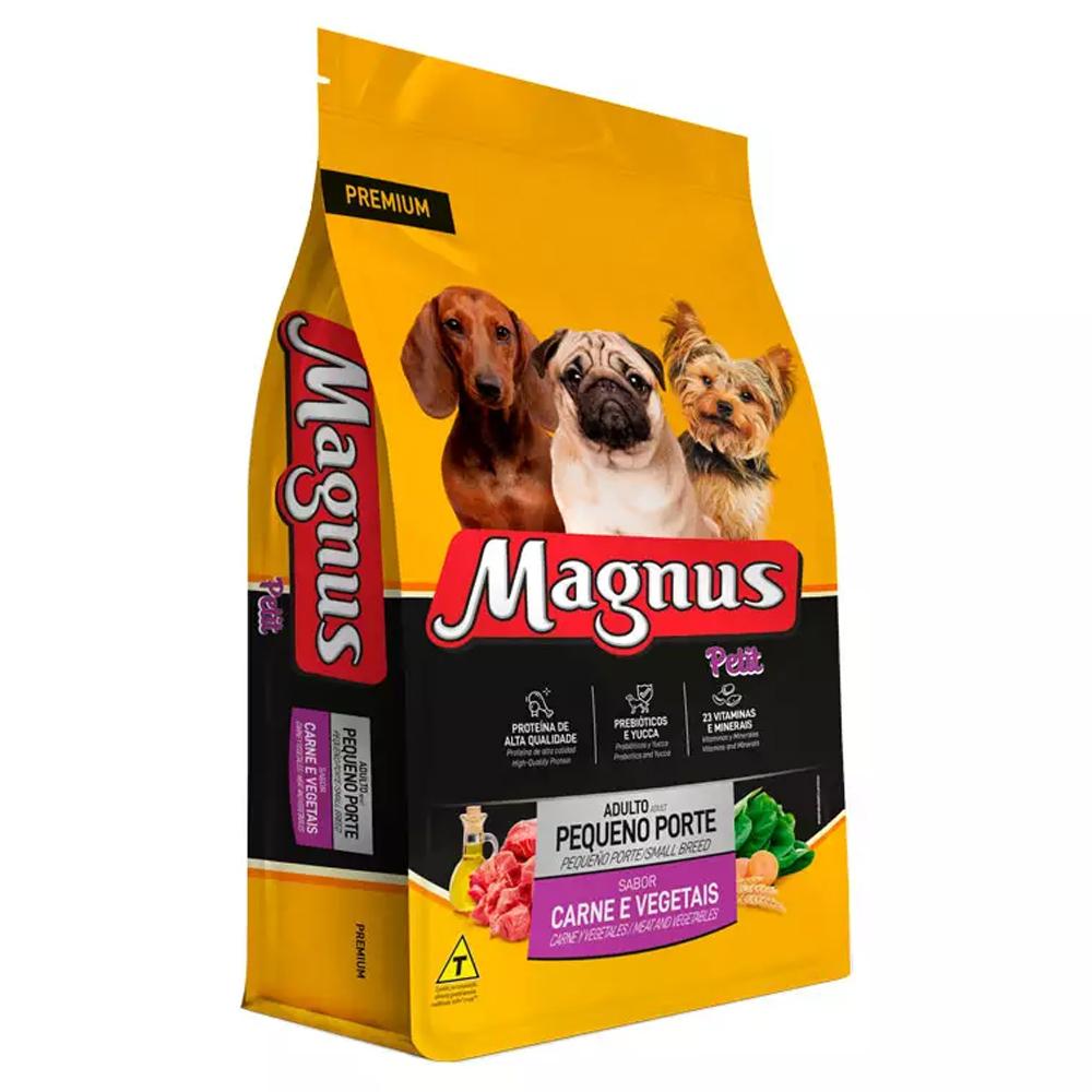 Ração Magnus Petit para Cães Adultos Pequeno Porte Sabor Carne e Vegetais 10,1kg
