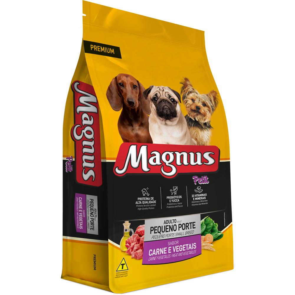 Ração Magnus Petit para Cães Adultos de Pequeno Porte Sabor Carne e Vegetais 1kg