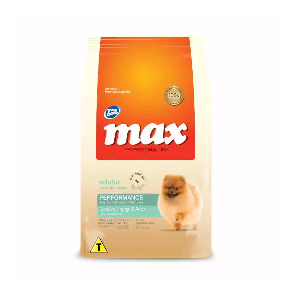 Ração Max Professional Line para Cães Adultos de Raças Pequenas Cordeiro, Frango e Arroz 15kg