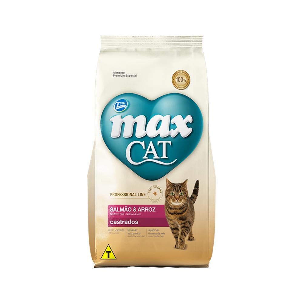 MAX CAT PROFESSIONAL LINE CASTRADOS SALMÃO 1KG