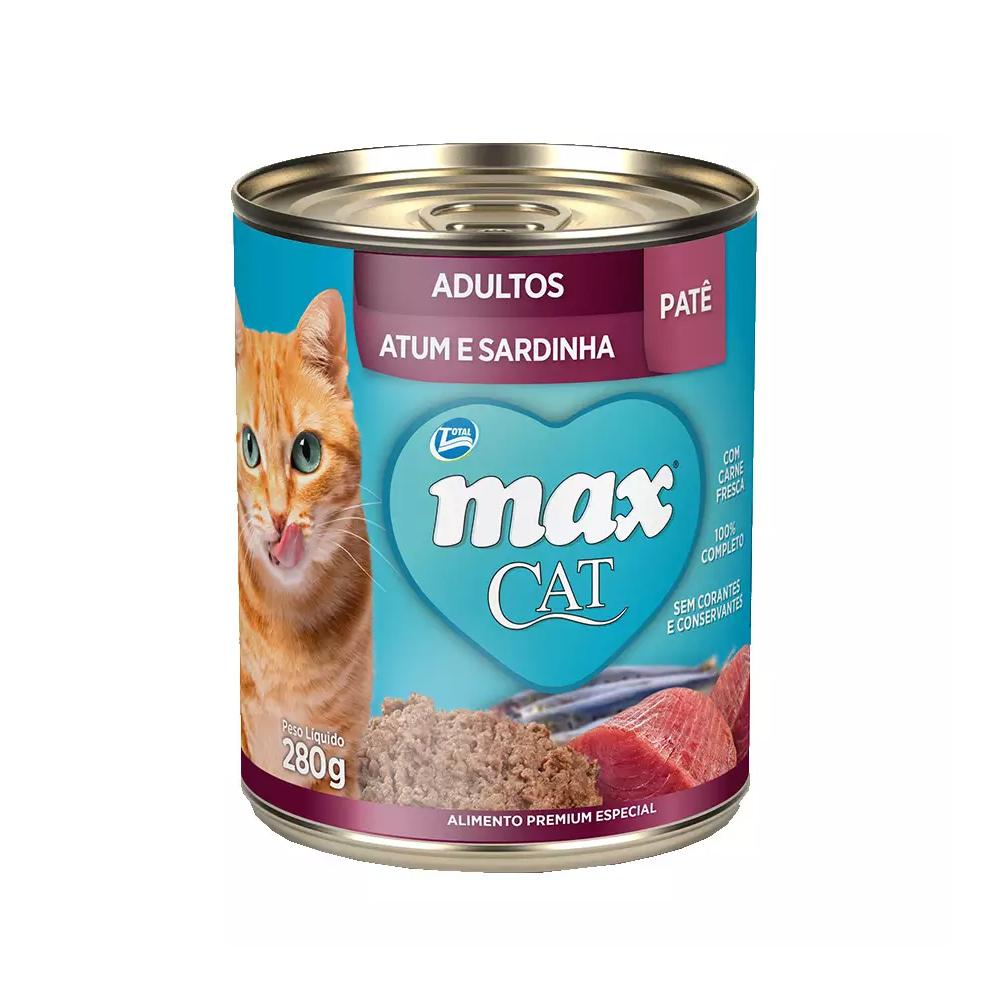 MAX CAT WET ADULTO ATUM E SARDINHA 280G