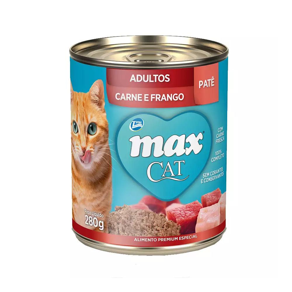 MAX CAT WET ADULTO CARNE E FRANGO 280G