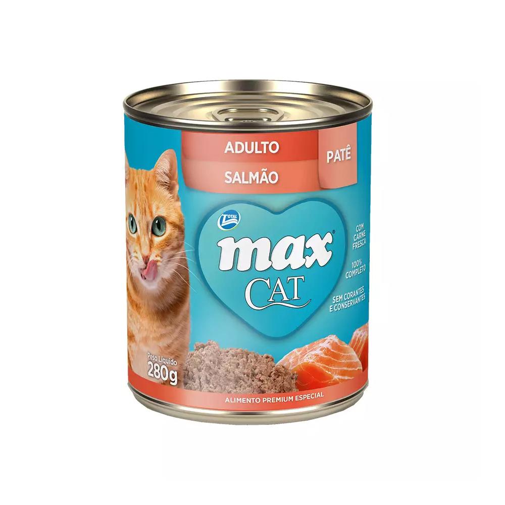 MAX CAT WET ADULTO SALMÃO 280G