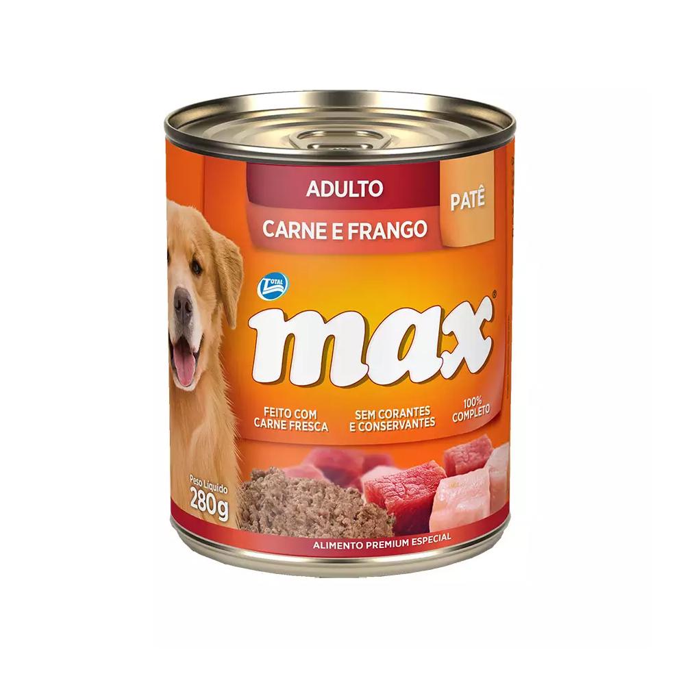 MAX WET ADULTO CARNE E FRANGO 280G