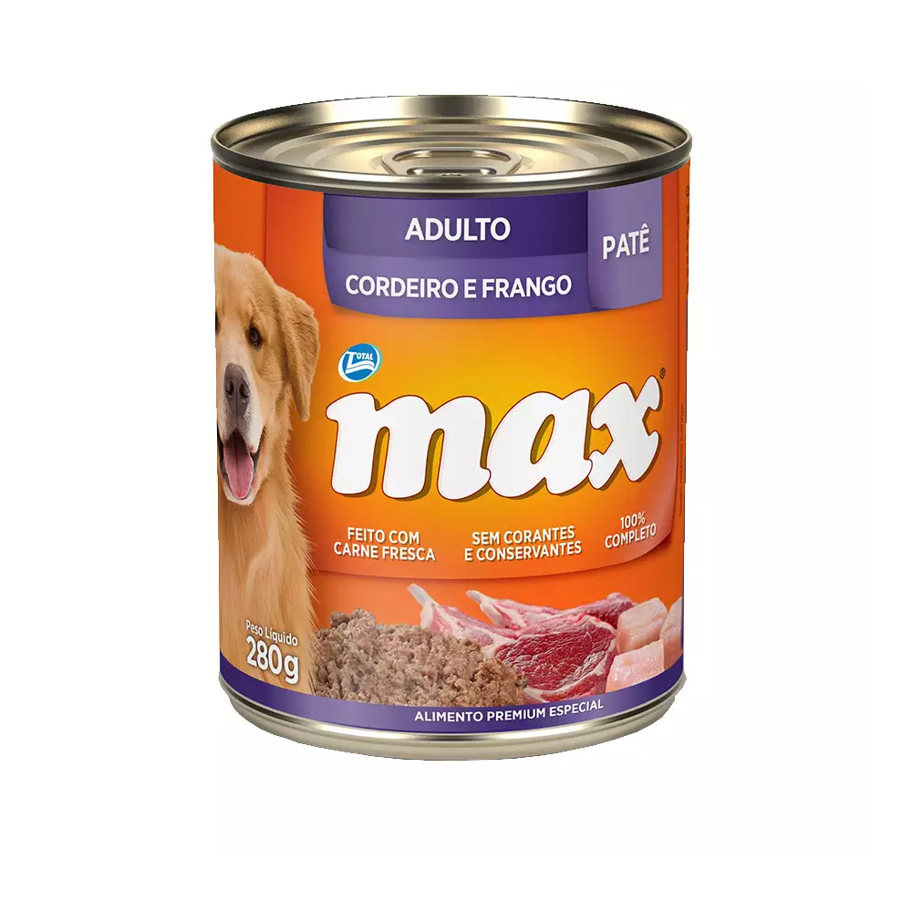 MAX WET ADULTO CORDEIRO E FRANGO 280G