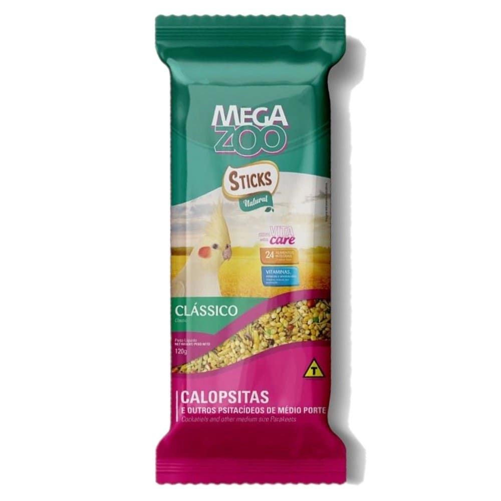 MEGAZOO STICKS CALOPSITAS VEGETAIS 120G