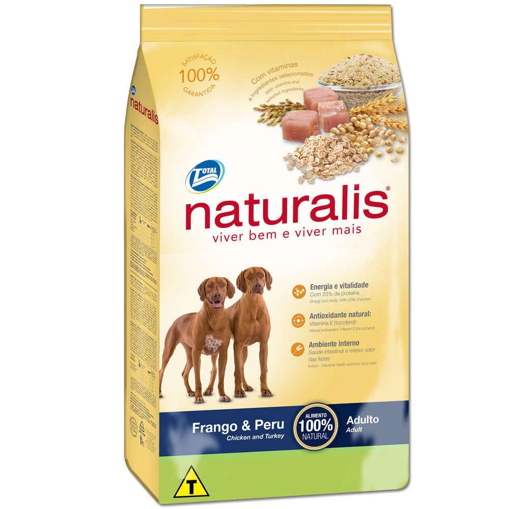 Ração Naturalis para Cães Adultos sabor Frango e Peru 15kg
